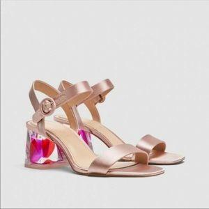 Zara Clear Petal Heels